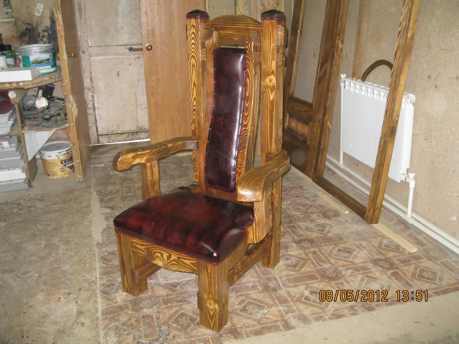 Деревянная мебель трон своими руками