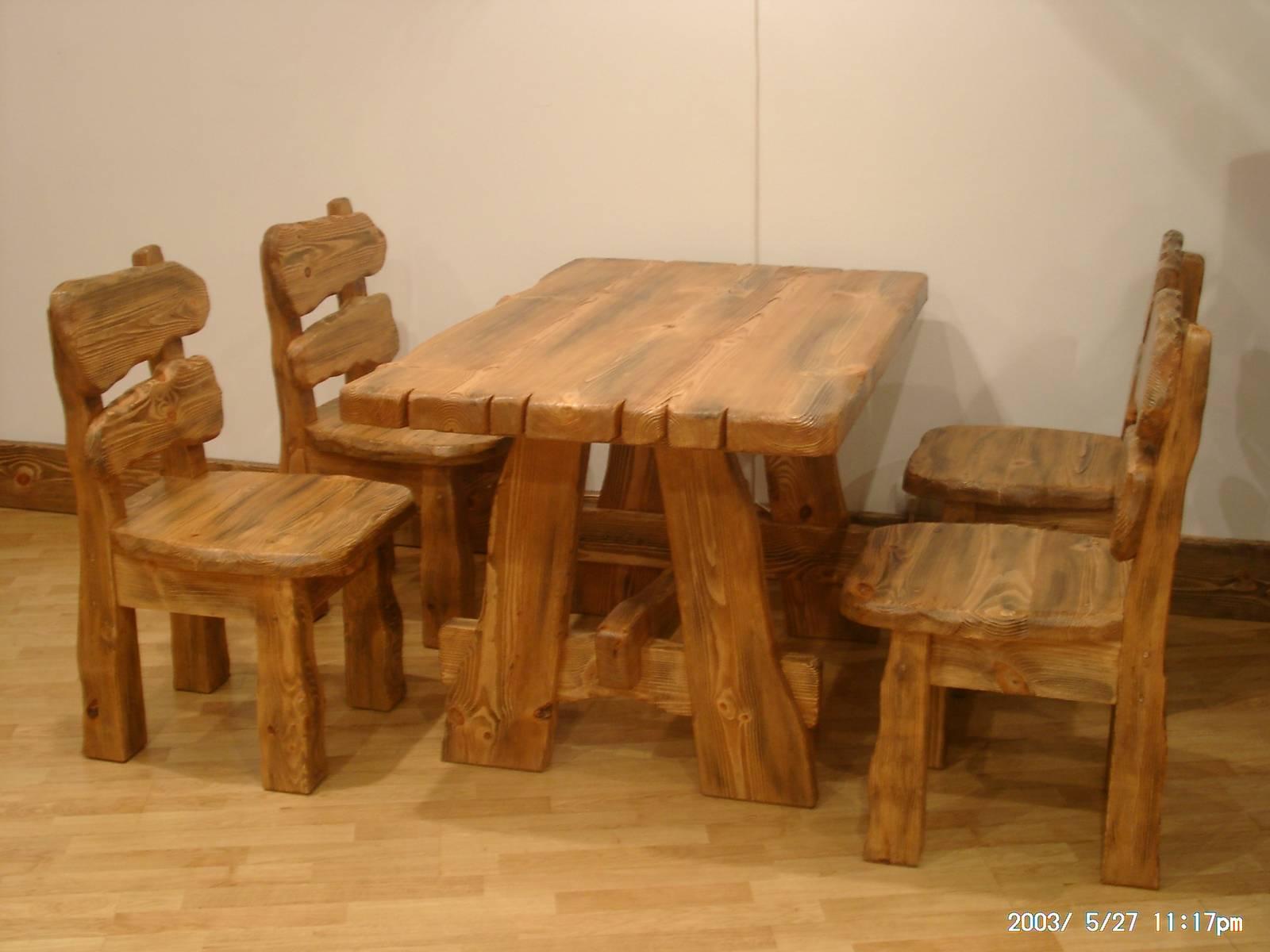 Фото столов и стульев из дерева своими руками